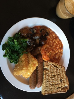 full english minus the usual tofu scramble which was not available that day