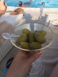 all the green olives please